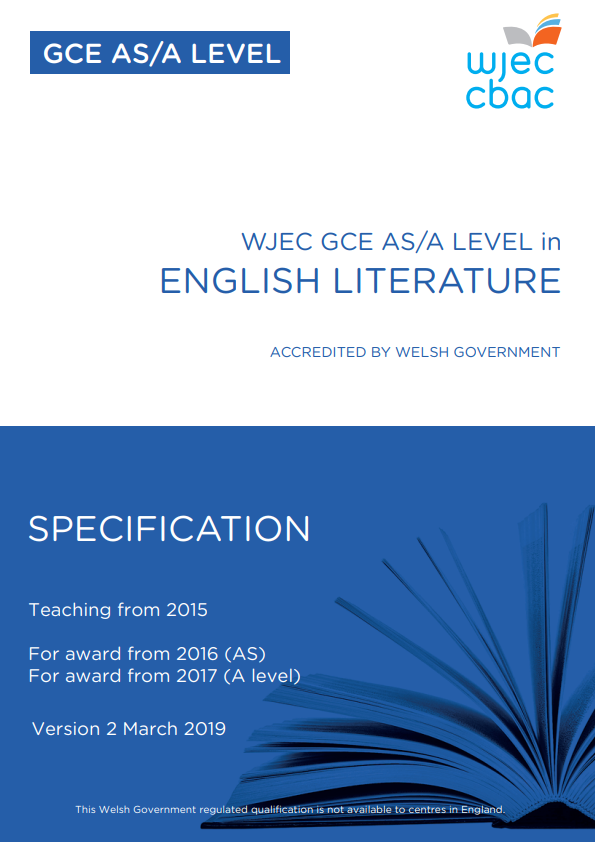 AS/A Level English Literature Specification